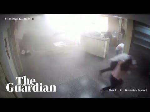 Beirut explosion: CCTV captures moment blast struck hospital
