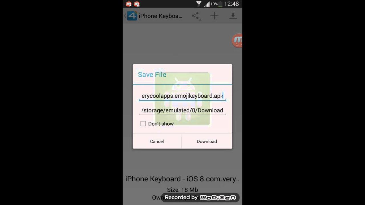 IOS 8 keyboard on android 😃كيبوردي ايفون بو اندرويد