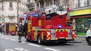 Pompiers de Paris sur Intervention Incendie ( Paris Fire Dept on scene, Fire Alert )