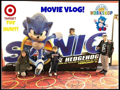 Sonic The Hedgehog Movie Vlog Target Toy Hunt Sonic Build A Bear Youtube