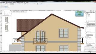 aRCHICAD  lessons 40. (Листы. Фасады)
