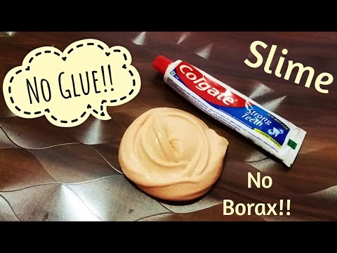 Colgate Toothpaste Slime with salt!! how to make slime  with toothpaste without glue & borax! Meesho