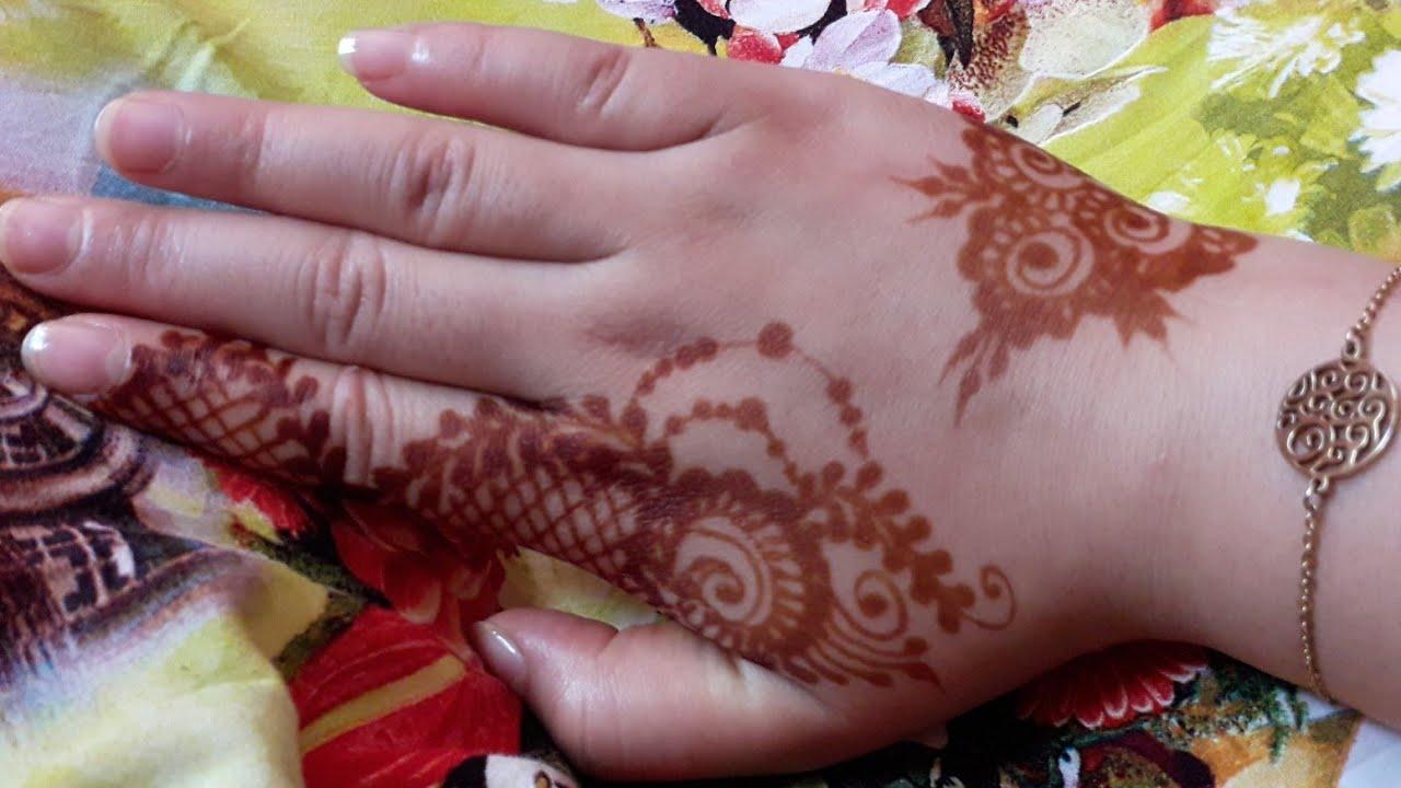 نقش أصابع حناء هندي روعة عصري وأنيق للبنات بطريقة سهلة ومبتكرة Youtube