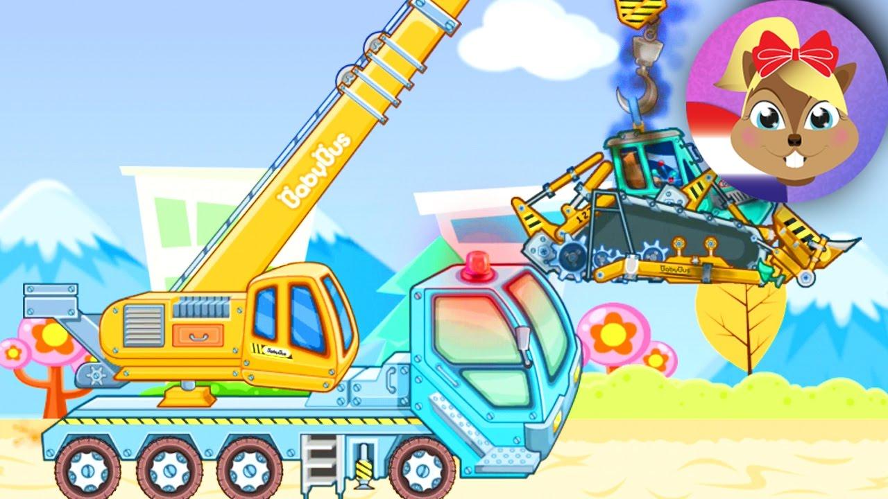 BABY BUS BOUWMACHINES Heavy Machines - App voor Android & iOS - BOUWPLAATS APP VOOR KINDEREN! - YouTube