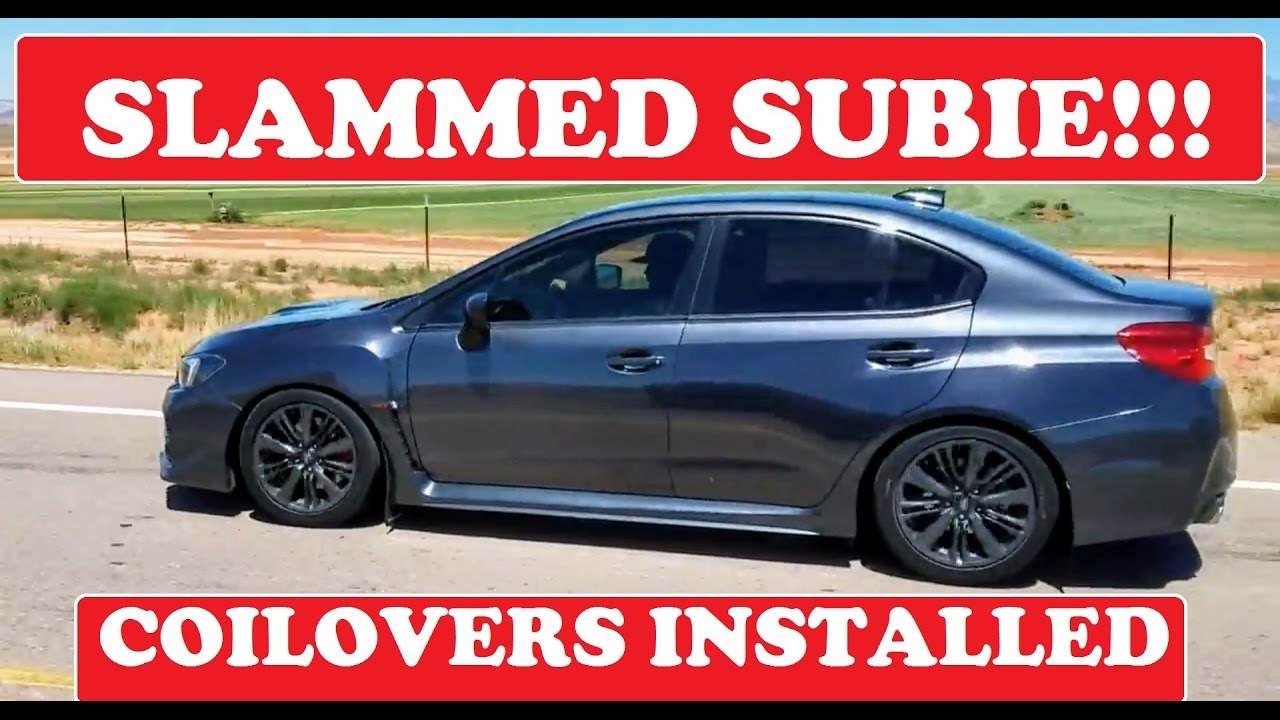 How To Install Coilovers Wrx Sti 2015 2018 Youtube