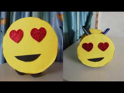 DIY || Emoji Penstand Tutorial  || Kid's  Craft