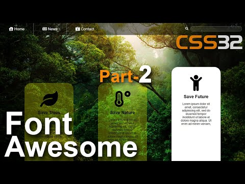 Font Awesome Icon Html CSS Tutorial In Hindi / Urdu Part-2 CSS-32