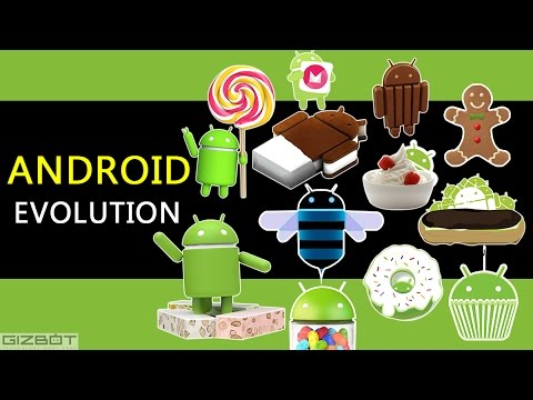Evolution of Android - Cupcake to Nougat - GIZBOT