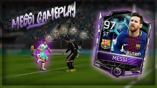 97 OVR EL CLASICO MASTER MESSI GAMEPLAY!! FIFA MOBILE 18 HE