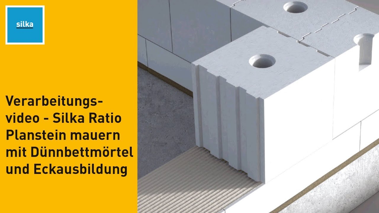 Favorit Silka - Verarbeitungsvideo - Silka Ratio Planstein mauern mit WK95
