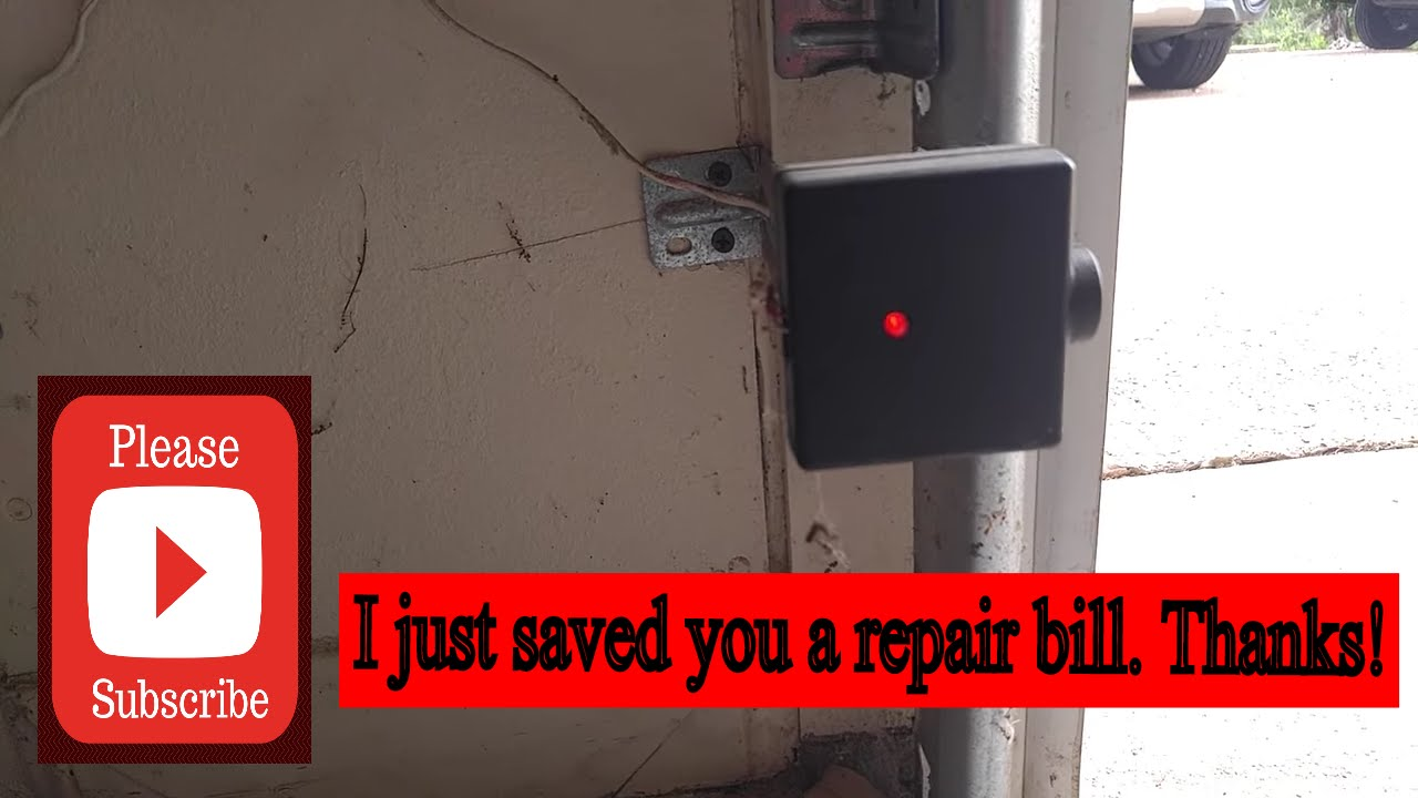 genie garage door opener not closing easy fix  [ 1280 x 720 Pixel ]