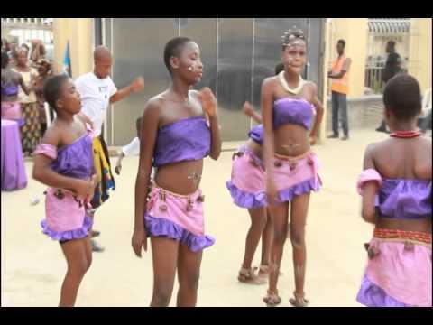 Traditional dancers in Mbak Etoi, Uyo, Akwa Ibom State, Nigeria