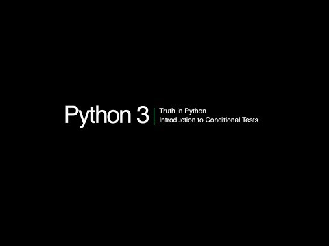 Python 3 Programming Course: 8 - Conditional Statements