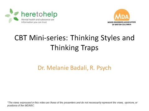 Cbt Mini Series Episode 1 Thinking Traps Youtube