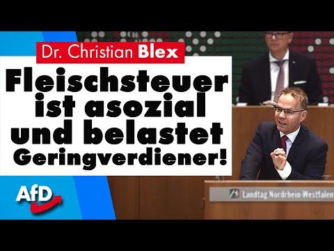 Fleischsteuer ist asozial und belastet Geringverdiener! | Dr. Christian Blex AfD