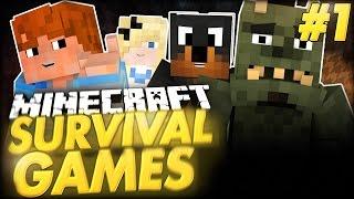 Minecraft Survival Games! - SUCHARY #1 w/ Abra Narf Patis