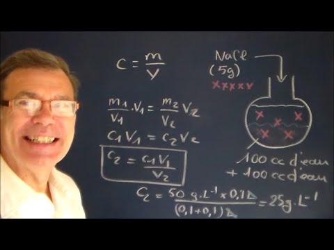 Calcul concentration massique d un solut dans un solvant youtube - Comment calculer la puissance d un radiateur ...