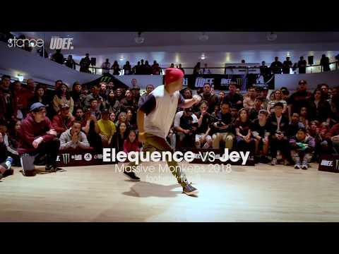 Elequence vs Jey [footwork top 8] // stance // Massive Monkees Weekend 2018 ► udeftour.org