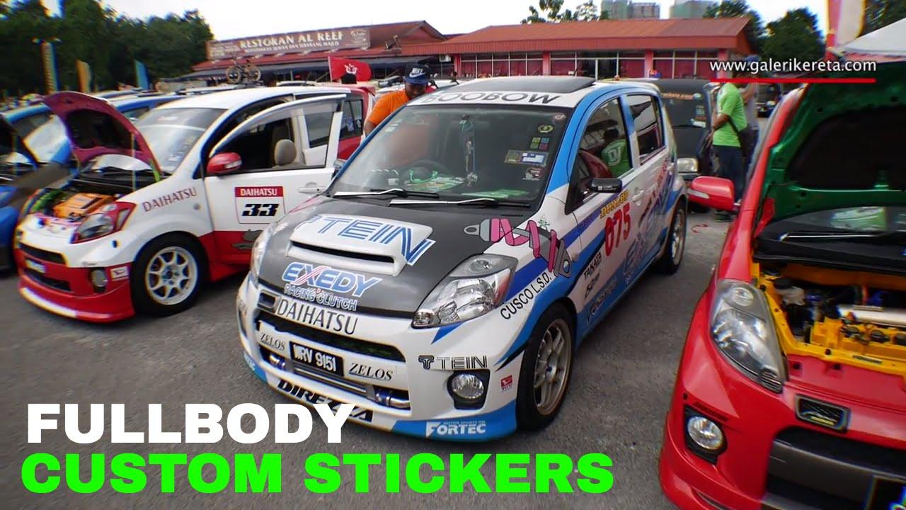 Custom stickers myvi boon modified 10th anniversary keicarmania 2016 youtube