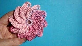 Вязаные цветы Урок 25 Crochet flower pattern - free