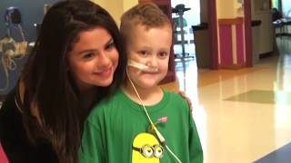 Selena Gomez Visiting A Children Hospital With The Big Slick Team (Full HD)