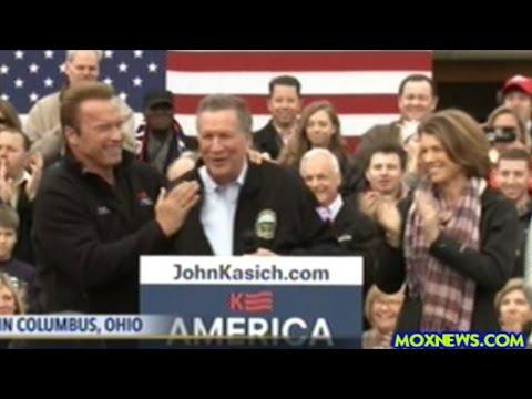 Arnold Schwarzenegger Endorses John Kasich At Ohio Campaign Rally