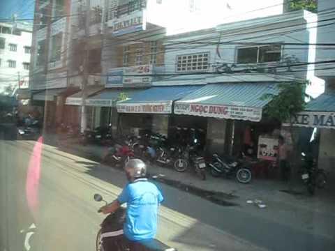 Đường Phố Nha Trang - Việt Nam - A View of Nha Trang Streets from the bus