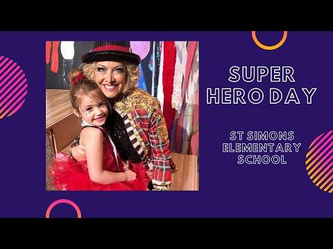 SUPER HERO DAY AT ST SIMONS ELEMENTARY SCHOOL
