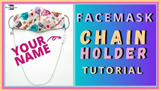 Face Mask Chain with YOUR NAME Easy Tutorial DIY Mask Holder Lanyard Necklace PERSONALIZED