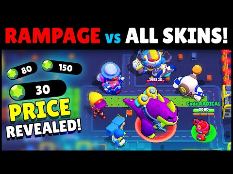 NEW! PvE MODE, SKINS, PRICES & Release Date! | Brawl Stars Rampage Gameplay