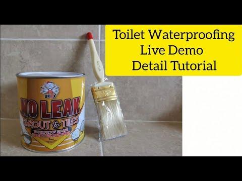 Waterproof DIY toilet floor leaking without hacking? Step by Step Tutorial UFIXX