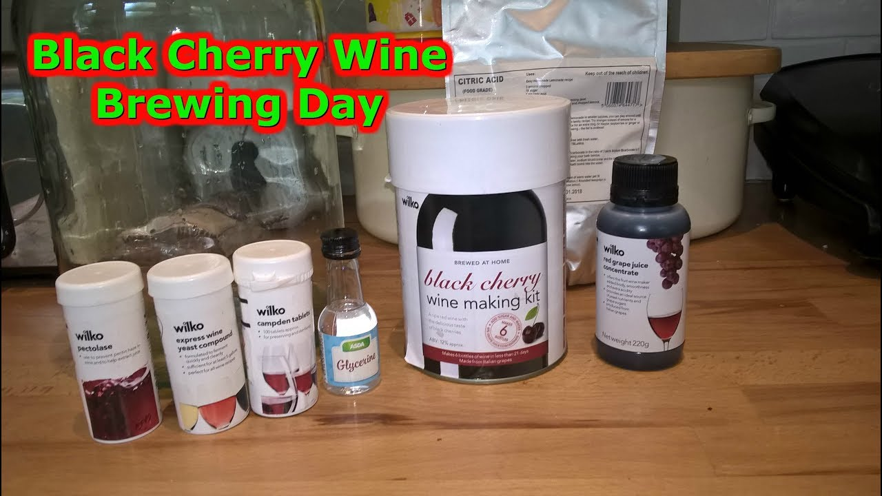 wilko black cherry wine making kit 75 homebrew beer youtube. Black Bedroom Furniture Sets. Home Design Ideas