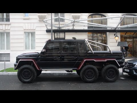 Mercedes G 6x6 BRABUS B63S 700 start + Ford Raptor Shelby ...