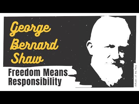 GEORGE BERNARD SHAW | Freedom Means Responsibility | 📖