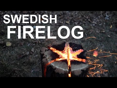 Swedish Fire Torch - Long Burning Fire From A Single Log