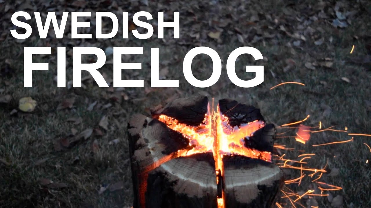 Swedish Fire Torch Long Burning Fire From A Single Log