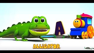 A CANÇÃO DO ABC DOS ANIMAIS DO BOB | mais rimas com bob o trem! | Bob Animal | Learn Abc | Kids Song thumbnail