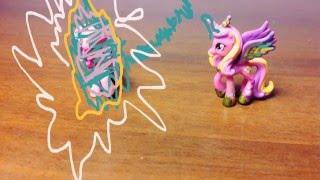 Стоп моушен май литл пони превращение в рейнбоу пони!!!!! Смотреть всем!!!!!!!
