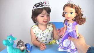 Disney Princess Sofia Doll and Animal Friends Set. Принцесса София и её друзья животные.