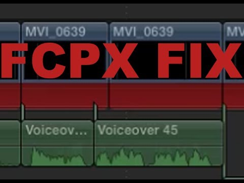 How to fix Final Cut Pro X Red Bar & Missing Media In The Timeline