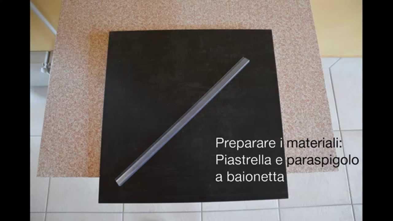 Come montare i paraspigoli lineari per piastrelle youtube