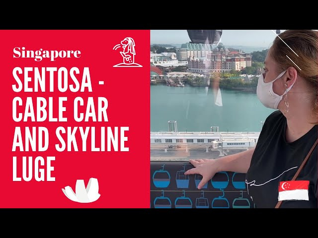 Sentosa, Singapore - cable car and skyline luge