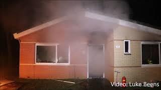 Brand in meterkast verwoest vakantiewoning   Kootwijk 18 02 2018