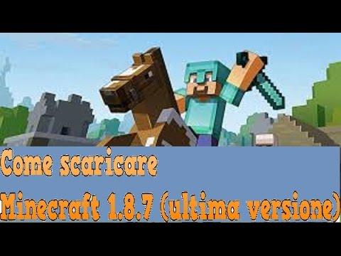 Come scaricare minecraft 1 8 8 per pc