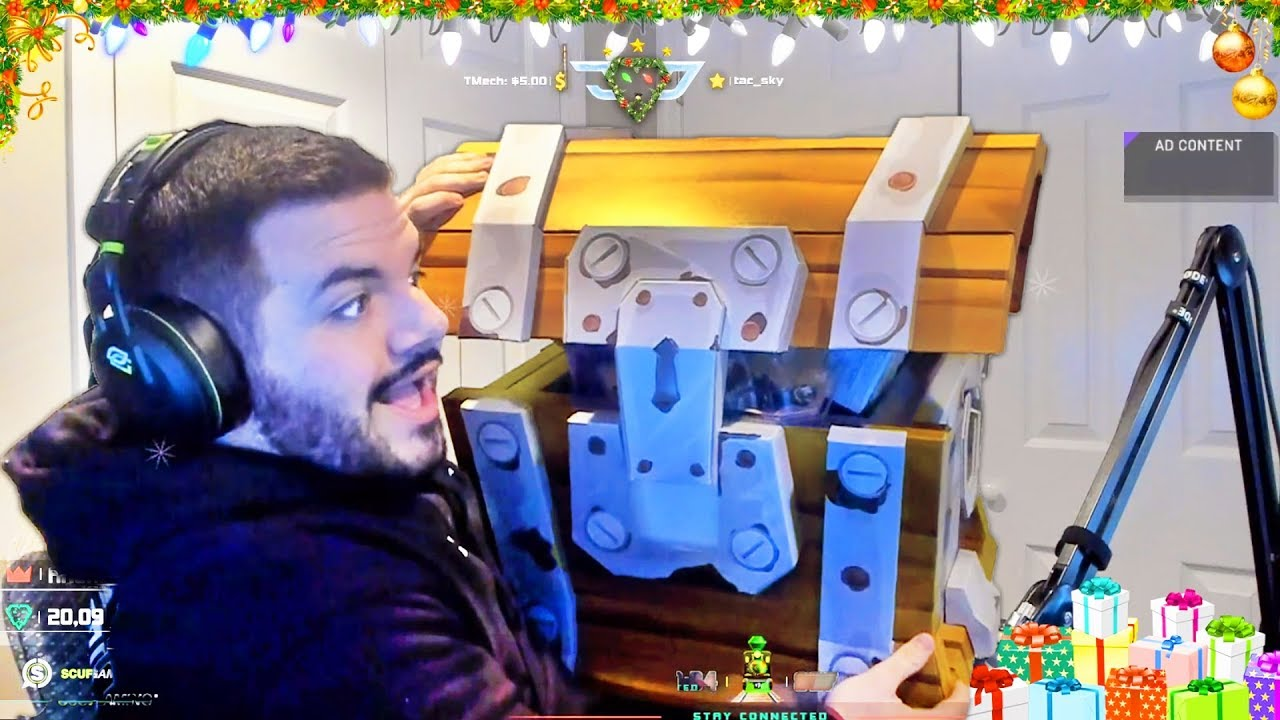 Courage Opens Real Life Loot Chest Llama With Fortnite Skins Legendary Guns And More Inside