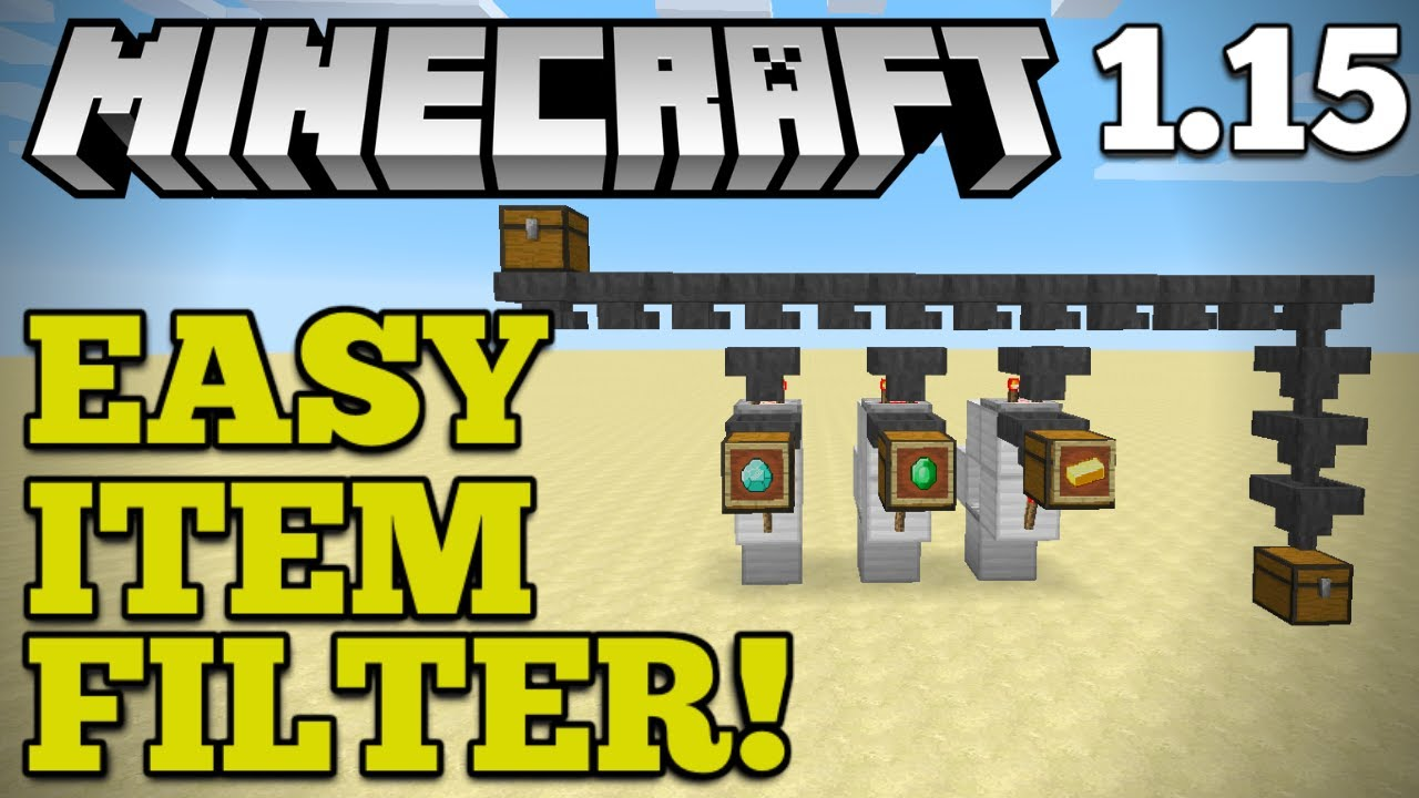 [EASY] Automatic Item Filter + Storage  Minecraft 9.95  How To Auto-Sort  Items