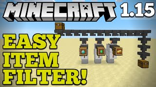 [EASY] Automatic Item Filter + Storage | Minecraft 1.15 | How To Auto-Sort Items