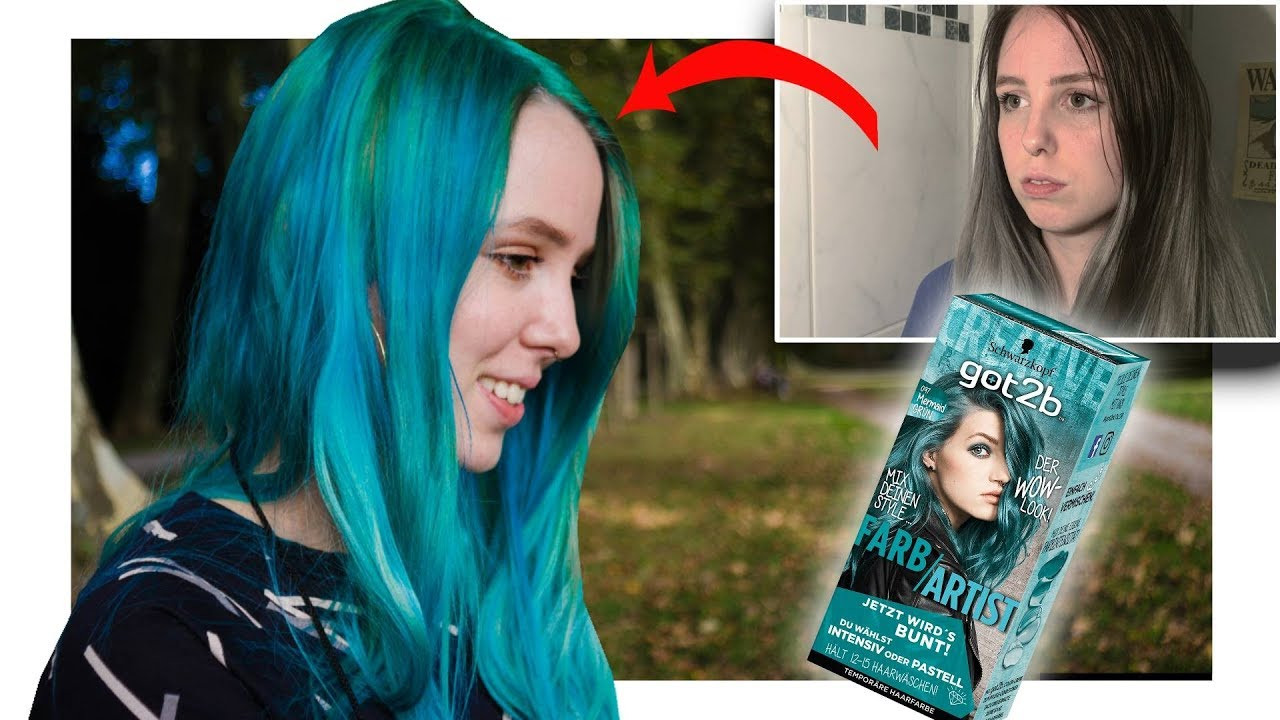 Haare Blau Färben Daheim Blondieren Mit Got2b Farbartist