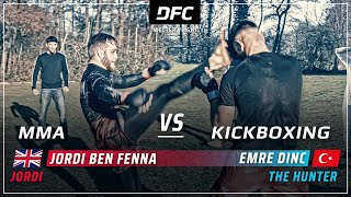 English-HOOLIGAN vs Turkish-KICKBOXER  | MMA STREETFIGHT | DFC