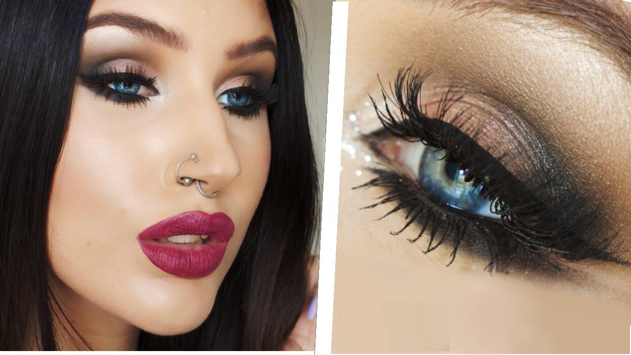 arab inspired double winged eyeliner   smokey eye makeup tutorial